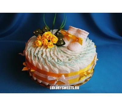 Торт из памперсов Солнышко