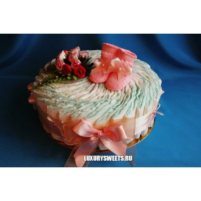 Торт из памперсов Зефир