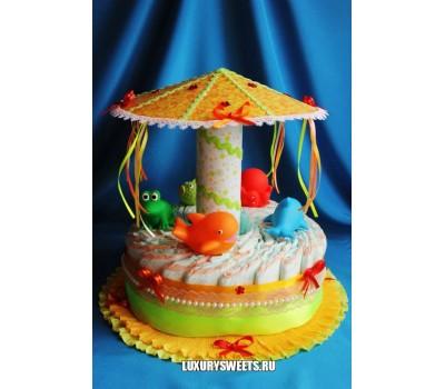 Торт из памперсов Весёлая карусель 2