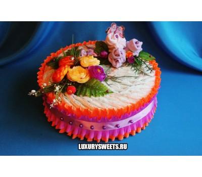 Торт из памперсов Цветочный джем