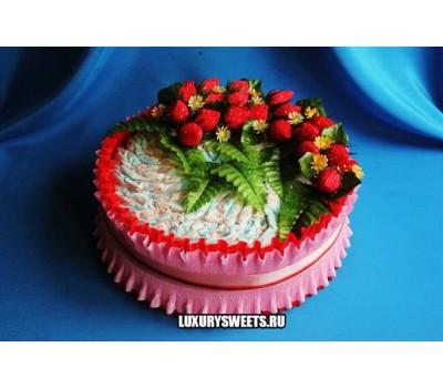 Торт из памперсов Клубничный джем