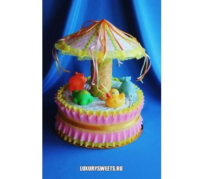 Торт из памперсов Весёлая карусель 5