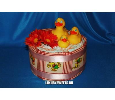 Торт из памперсов Утята