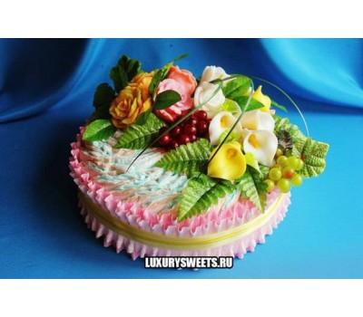 Торт из памперсов Райская долина