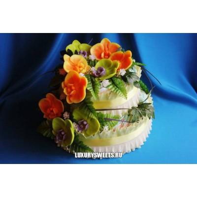 Торт из памперсов Нежная орхидея