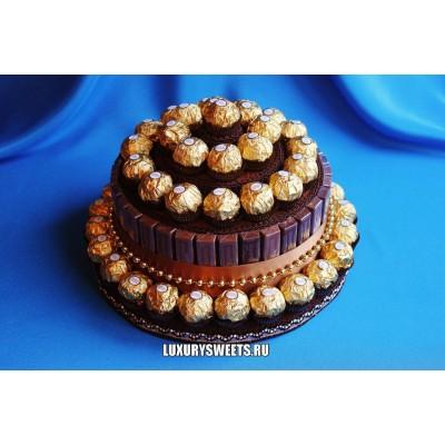 Торт из конфет Шоколадный брауни