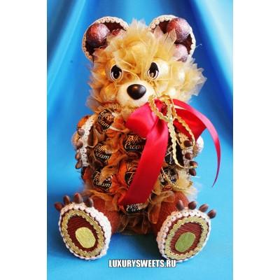 Композиция из конфет Чудный мишка в подарок
