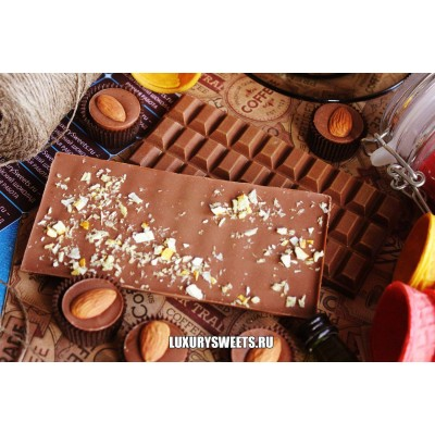 Молочный шоколад ручной работы с добавлением апельсина 100 г