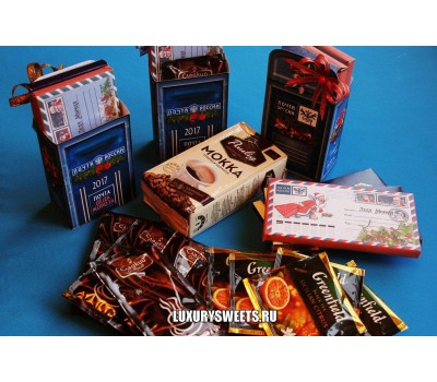 Оформленный шоколад Почта