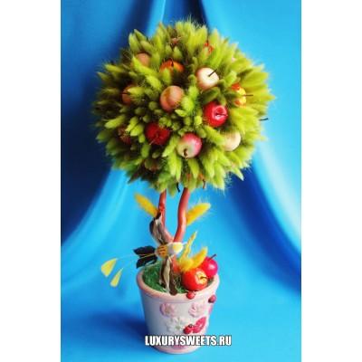 Топиарий из фруктов Райский сад