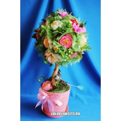 Топиарий из цветов Нежная камелия
