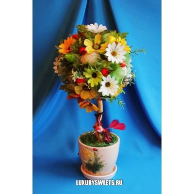 Топиарий из цветов Летнее чудо 2