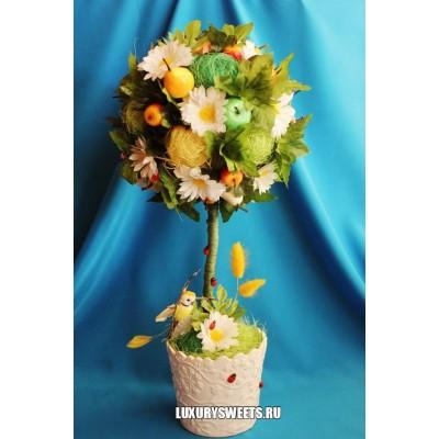 Топиарий  из цветов Летнее чудо