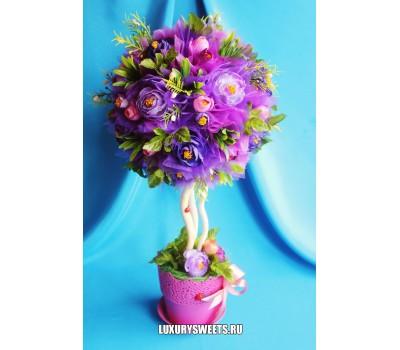 Топиарий из цветов Мистика