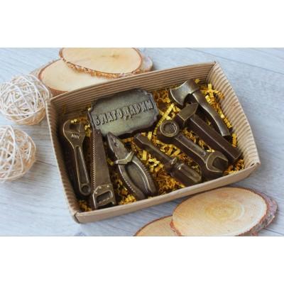 Набор из шоколада ручной работы Дарим инструменты 80 г