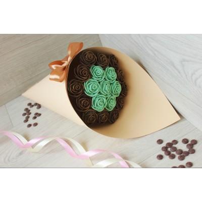 Букет из шоколадных роз Азалия 19шт (МБ)