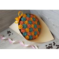 Букет из шоколадных роз Юлиана 37шт (РЖГ)