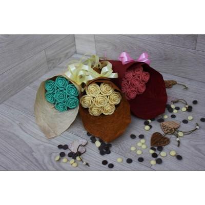 Букет из шоколадных роз Арлекин 7шт