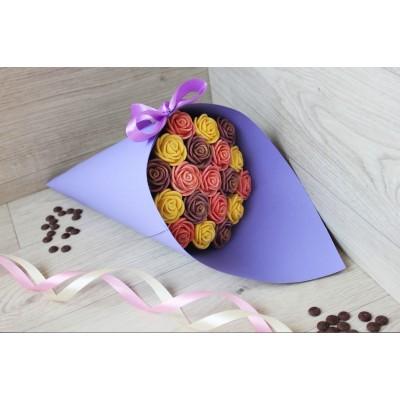Букет из шоколадных роз Азалия 19шт (ЖРС)