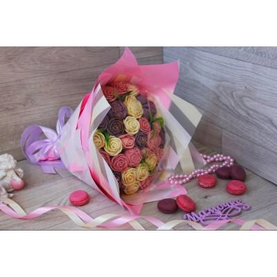 Букет из шоколадных роз Винтаж 33шт (БРС)