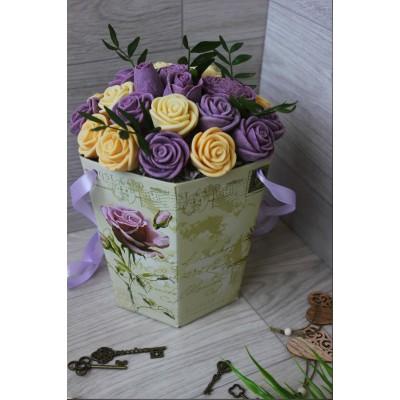 Композиция из шоколадных роз Джульетта Винтаж 23шт (БС)