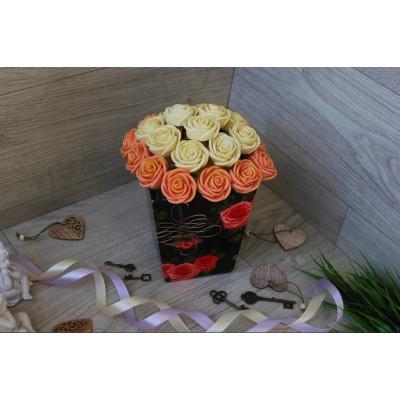 Композиция из шоколадных роз Джульетта 23шт (БР)