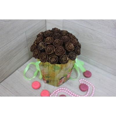 Композиция из шоколадных роз Джульетта 31шт (М)