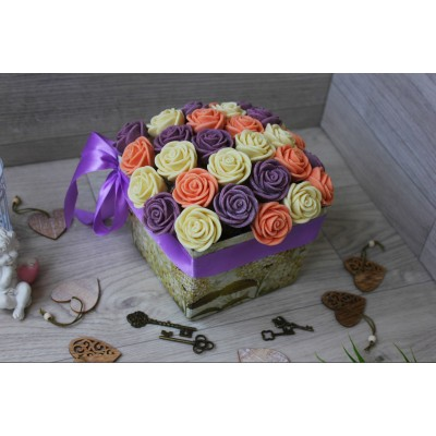 Композиция из шоколадных роз Джульетта 31шт (БРС)