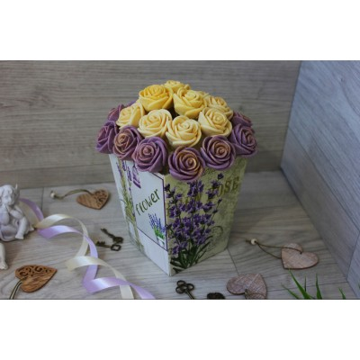 Композиция из шоколадных роз Джульетта 23шт (БС)
