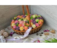 Корзина из шоколадных роз Новелла Винтаж 49шт (БПРС)