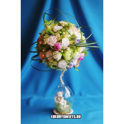 Топиарий из цветов Летний сад