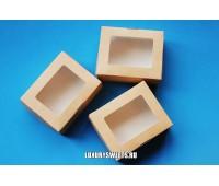 Коробка картонная с прозрачной крышкой 3*8*10 см