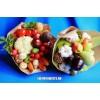 Букеты из фруктов, овощей, цветов, фруктовые торты и корзины