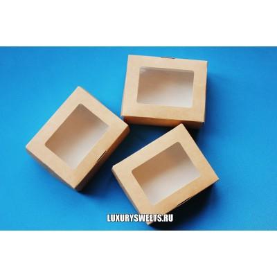 Коробка картонная с прозрачной крышкой